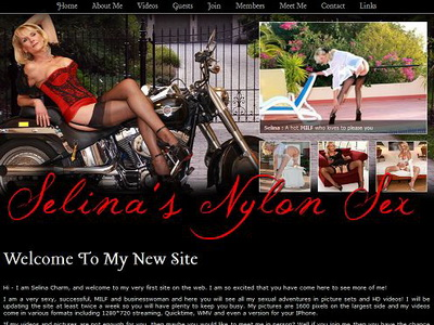 Wanna see the whole lot of Selina's Nylon Sex adventures?