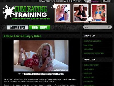 Cum Eating Training